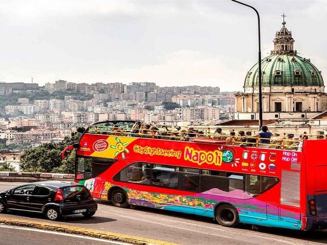 <意大利 那不勒斯随上随下城市观光巴士>(24小时通票+中文语音导览)