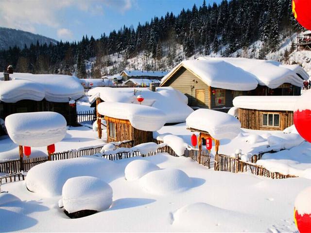 [圣诞]<哈尔滨-雪乡-镜泊湖冬捕-长白山-万达滑雪7日游>当地参团,0购销冠,不限时滑雪,娱雪乐园,双温泉览雾凇 ,入住1晚万达滑雪小镇,18000人出游