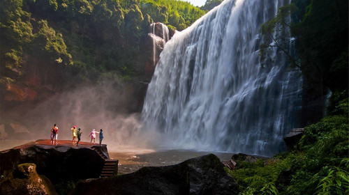 赤水大瀑布-四洞沟2日游>含大瀑布景区大门票,主城多