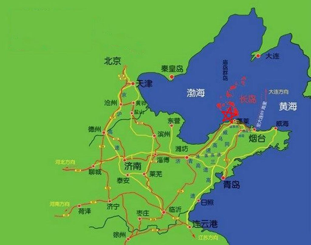 威海手绘地图尺寸
