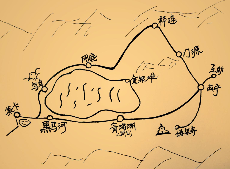 下图为领队手绘地图                      用餐安排:全程用餐游客