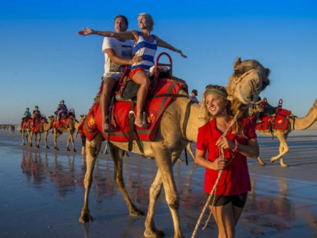 <布鲁姆夕阳骆驼骑行观景半日之旅>