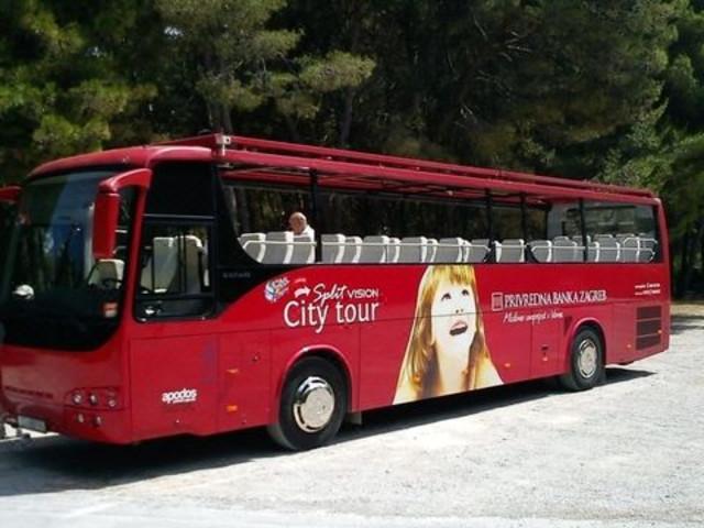 <斯普利特的敞篷观光巴士之旅>