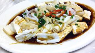 鱿鱼蒸豆腐