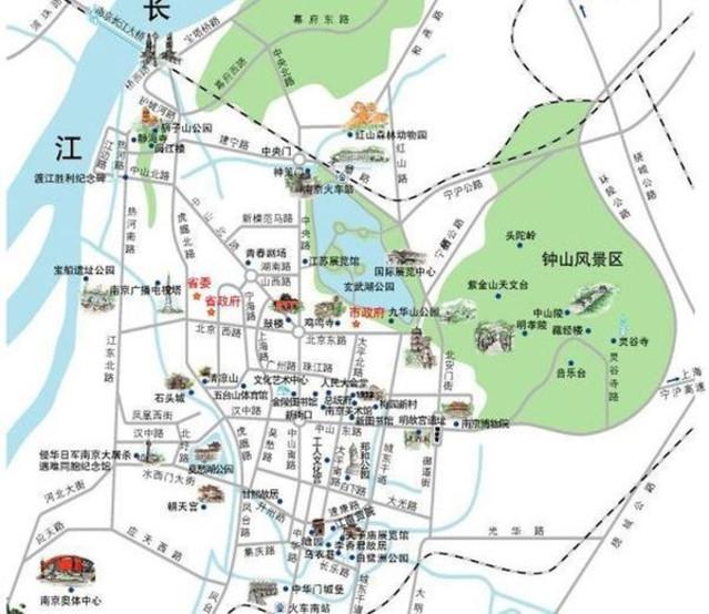 鐘山風景區又名東郊風景區,距離市中心非常近