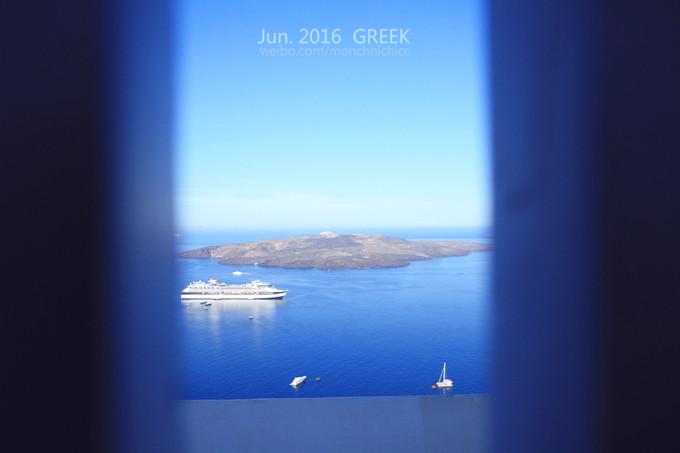 第一站是国家地理杂志的封面图——菲罗斯特法尼firostefani的蓝顶