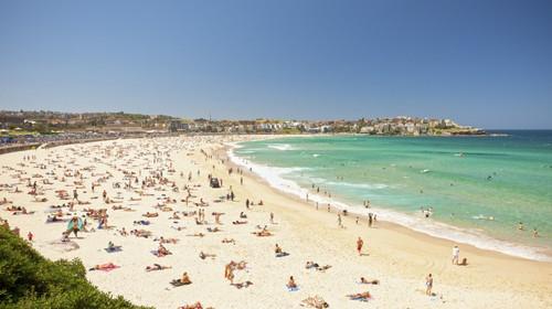 悉尼海滩丹b��(�9��_外观【悉尼歌剧院】,【海港大桥】 邦迪海滩 邦迪海滩的名字意思是