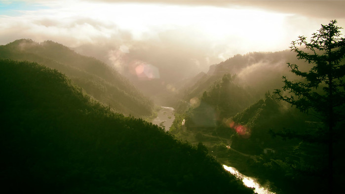 湖南省新田县---金陵水库,国家森林公园--福音山