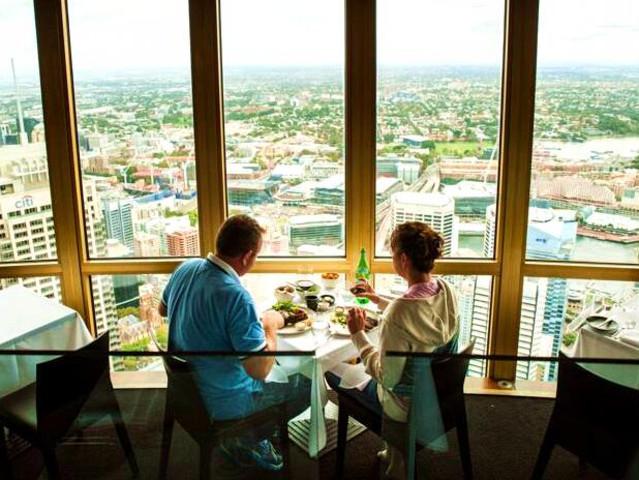 <悉尼塔360度酒吧餐厅套餐>(俯瞰悉尼全景+精致美食)