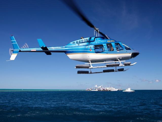 <心形大堡礁直升机+游船一日游>(飞去船回/船去飞回)