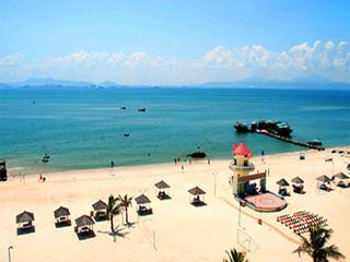 <惠州惠东2日游>美女照镜沙滩趣味,魔幻激光巽秀,奇妙海龟岛,壮美双月湾观景台