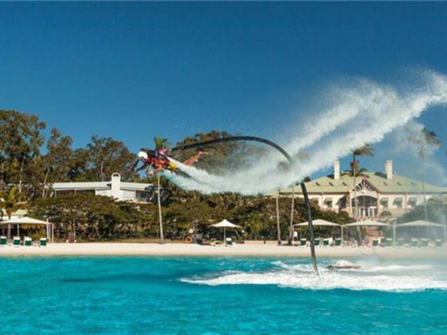 <悉尼水上喷气飞行三重体验>(喷气背包+水上飞板+水上飞车)