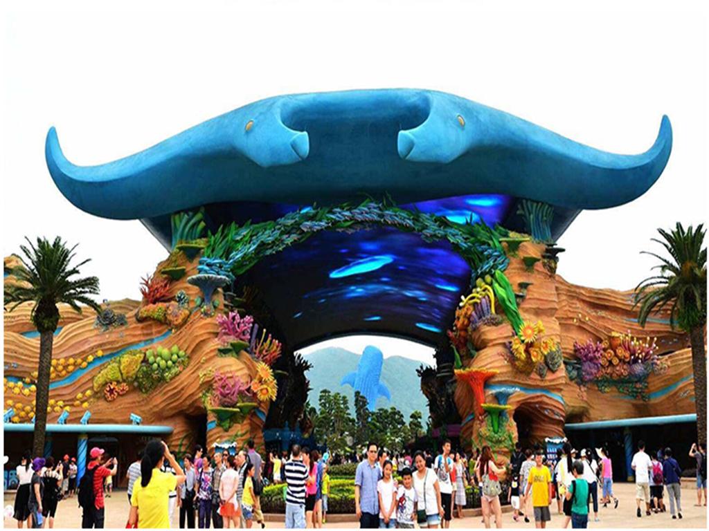 广州长隆野生动物园-欢乐世界-珠海海洋王国5日游>夏