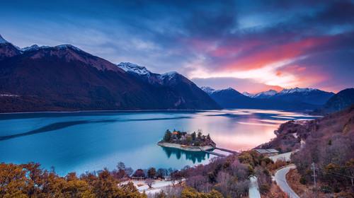 西藏风光 高原雪山 高原湖泊