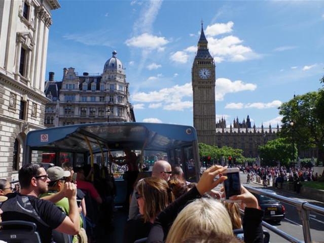 <伦敦 随上随下观光巴士24/48/72小时/1日通票>(中文语音导览+赠泰晤士河游船/步行游览行程)