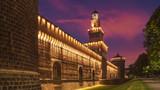 光亮、塔、城堡、墙壁、米兰、伦巴第、意大利_427