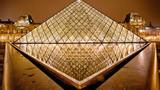 夜景、卢浮宫、美术馆、巴黎、法国_536