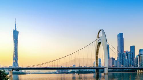 Guangzhou bridge and urban construction