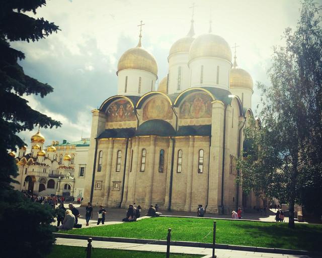 克里姆林宫里的教堂,光线太美了图片