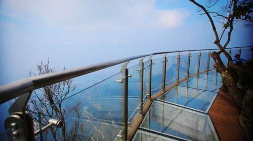 Glass bridge on the hill