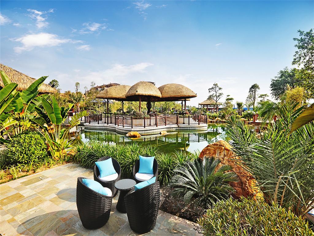 传承全球顶尖温泉度假酒店的尊贵血脉,酒店设计理念以唐泰风韵为特色图片