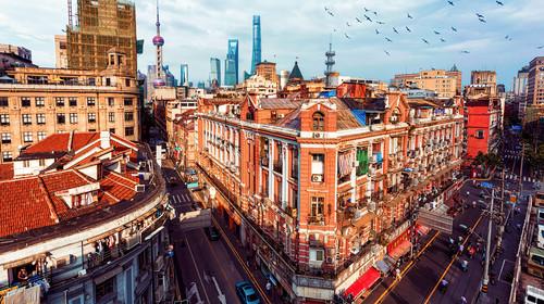 上海北京东路高视角