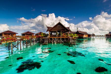 <马来西亚仙本那机票+当地4晚6日游>马布岛,海洋公园跳岛,宿水屋,浮潜,包车接送机,含浮潜/咬嘴/电话卡/转换插头