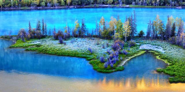 新疆旅游可可托海+图片滩+禾木+喀纳斯+观鱼怎样修饰五彩美食图片
