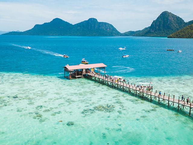 <馬來西亞沙巴仙本那敦沙卡蘭海洋公園浮潛一日游【珍珠島/軍艦島/海上巴瑤族/大船出海】>