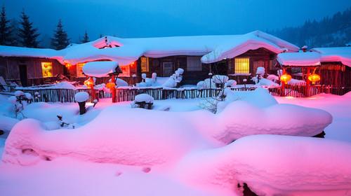 哈尔滨冰雪大世界夜景