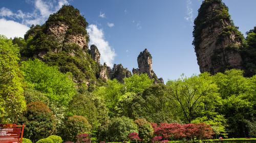Hunan China - 16 Apr 2016: Visiting the grand amazing view of Huangshizhai mountain, Zhangjiajie, China