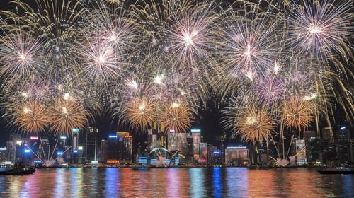 香港国庆67周年烟花汇演