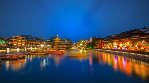 南京夫子庙夜色