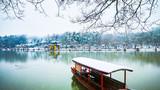 雪中瘦西湖图片