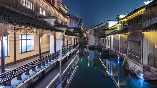 中国 浙江乌镇夜景
