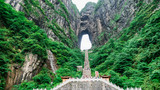 The Tianmen Mountain with a view of the cave Known as The Heaven