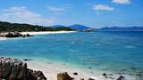 Tropical beach paradise of Wuzhizhou Island near Sanya in Hainan Province, south China.