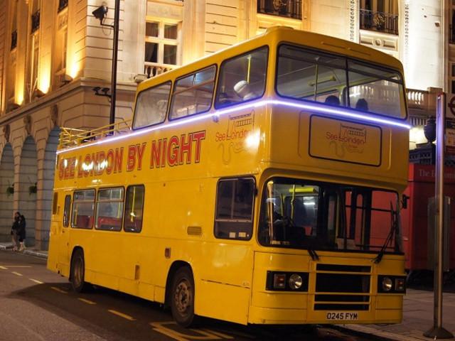 <英国伦敦复古双层巴士夜游>(著名景点浏览+英文导游)