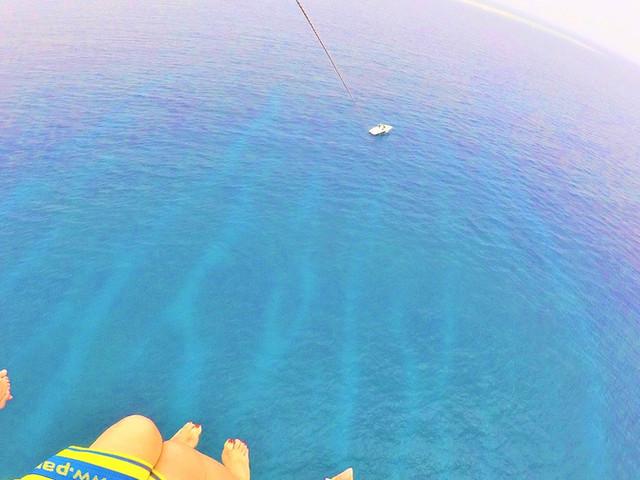 <【俯瞰慶良間美麗海景】沖繩海上拖曳滑翔傘體驗(那霸出發+GOPRO租借送SD卡)>