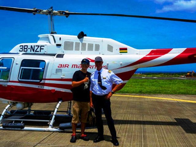 <【俯瞰神秘海底瀑布】毛里求斯直升机观光之旅【超长45分钟】>