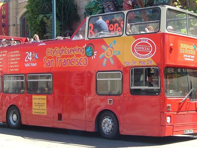 <【City Sightseeing,1/2日通票】美國舊金山隨上隨下觀光巴士>