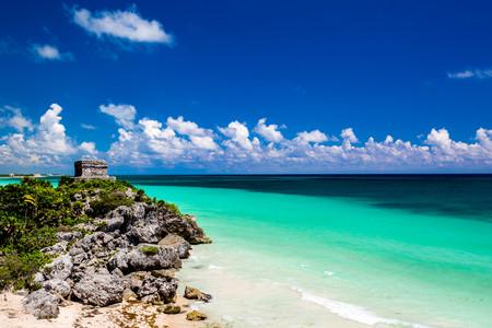 <墨西哥坎昆红树林浮潜+卡门海滩一日游游>当地参团 加勒比海红树林浮?#20445;?#28459;步卡门海滩