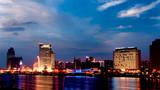 厦门城市风光-海天一色的鼓浪屿风景