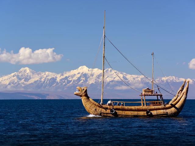 的的喀喀湖乌鲁人芦苇浮岛生活才是岁月的开始