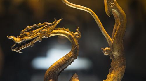 鎏金铁芯铜龙