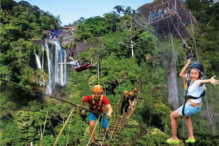 <清远古龙峡1日游>玩云天玻霸、玻璃桥、古龙九瀑瀑布群可勾选升级全程漂流