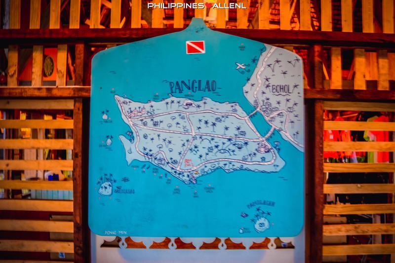 一张薄荷岛的手绘地图.