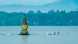 杭州西湖三潭印月夜景