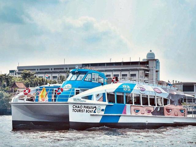 <昭披耶河 曼谷随上随下观光船Hop On-Hop Off【9个码头+尽情探索湄南河风景+任选时间乘船+露天顶层甲板】>