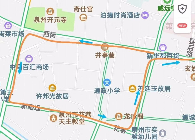 泉州钟楼手绘地图